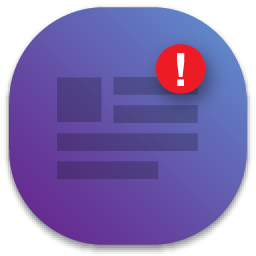 floating notice icon